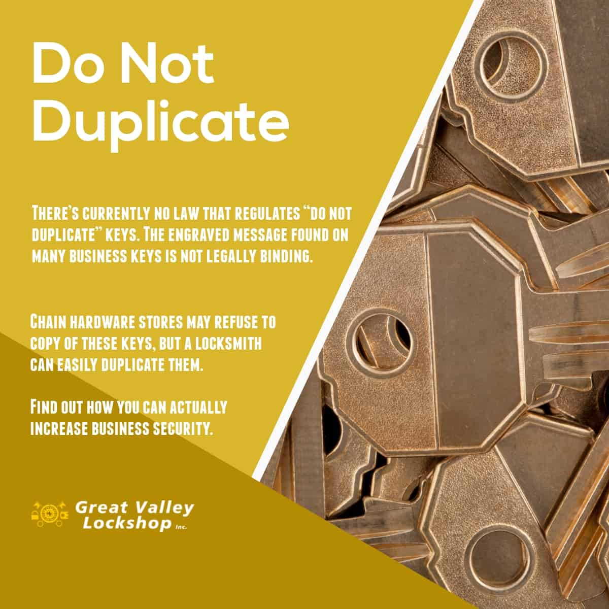 "Will a Locksmith Copy a ""Do Not Duplicate"" Key? 