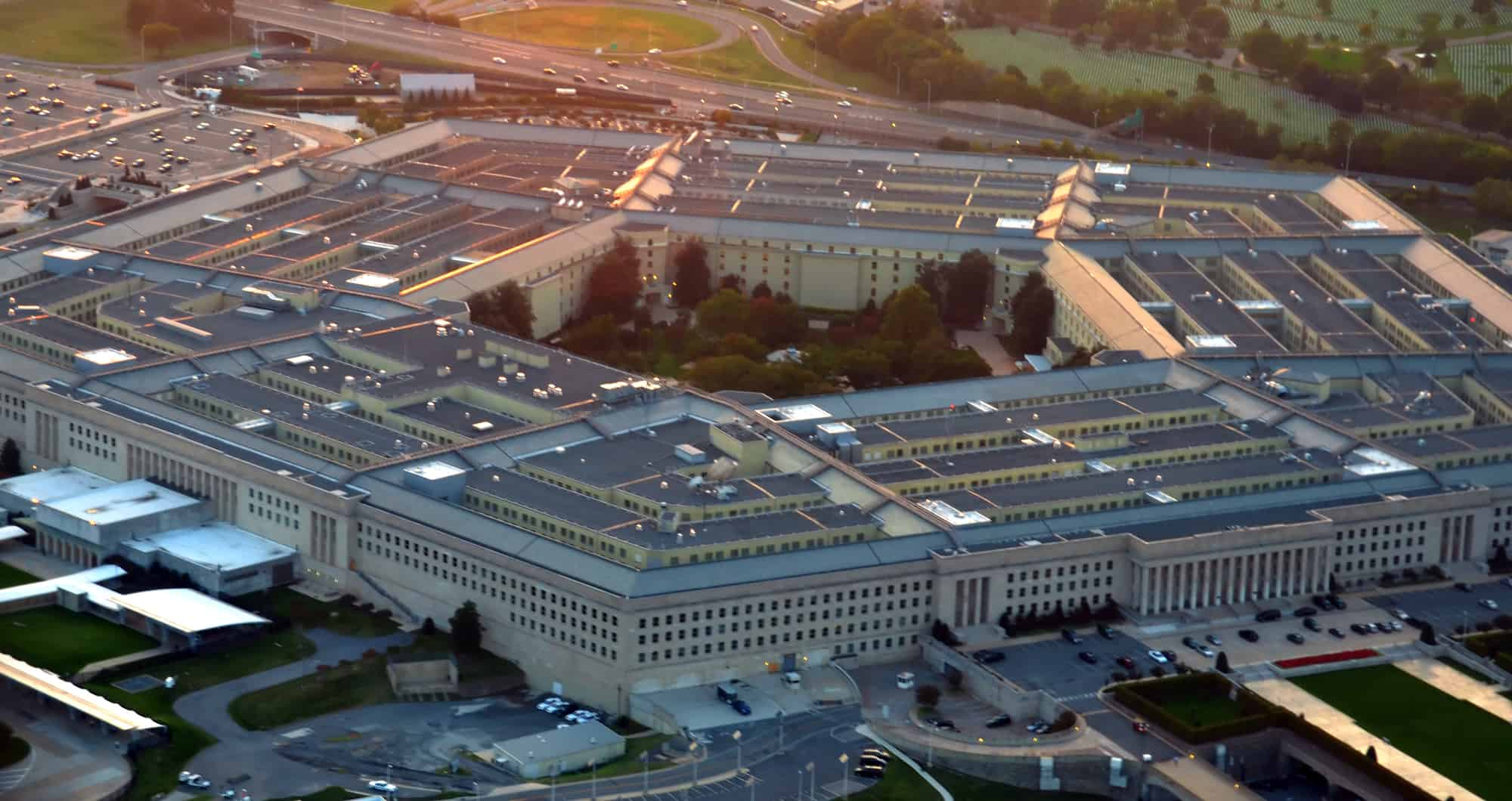 View of the Pentagon building.