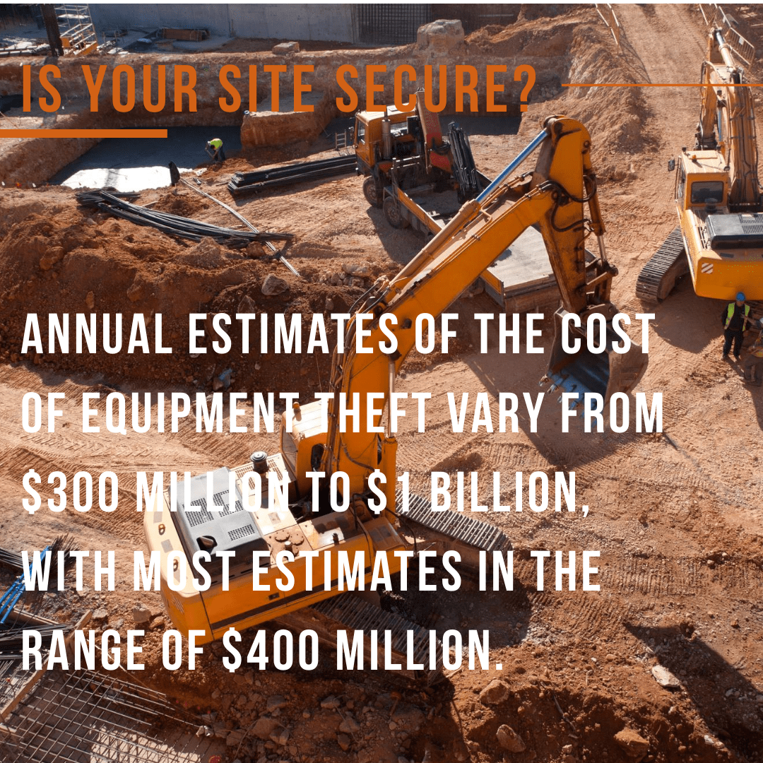 Construction Equipment Theft statistics from National Equipment Register