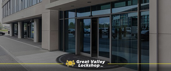 Business with Sliding Glass Doors - Great Valley Lockshop