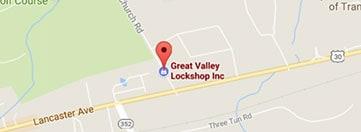 Great Valley Lockshop Location